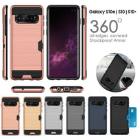 Slide Armor Shock Proof Card Case Cover For Apple iPhone X 8 7 6 6S Plus