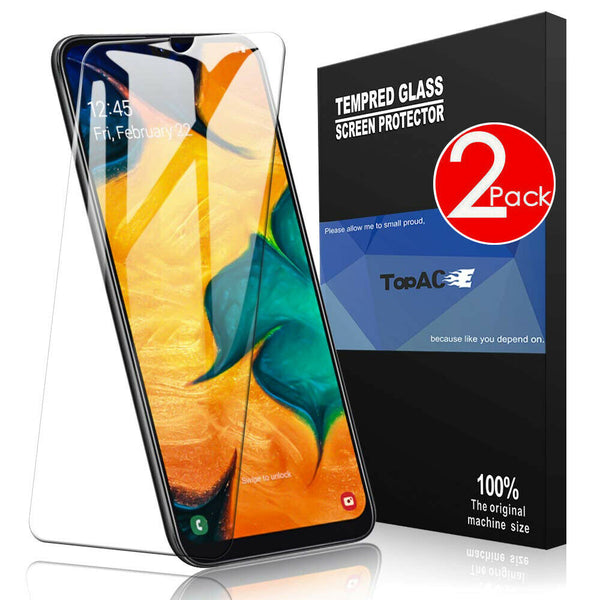 2 PACK 9H Tempered Glass Screen Protector For New Samsung Galaxy A20 A30 A50 A70