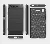 For SONY Xperia XZ Premium Shockproof Carbon TPU Back Cover Anti Knock Case