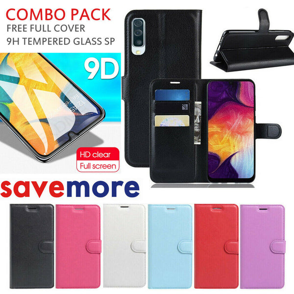For Samsung Galaxy A20 A30 A50 A70 PU Leather Wallet Flip Folio Case Cover