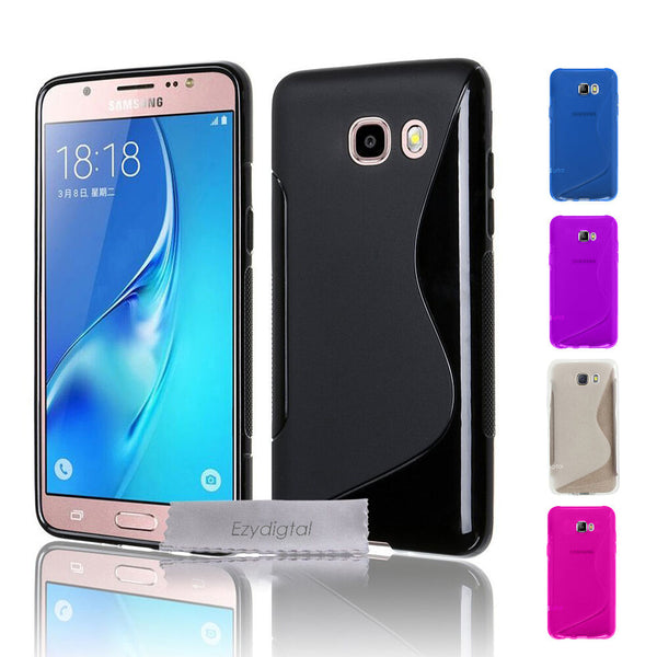 S CURVED GEL CASE FOR SAMSUNG GALAXY J2 J5 J7 PRIME & PRO + Screen Protector