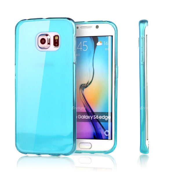Crystal Gel Case Cover For Samsung S6 S7 S8 S9 Plus Ultra Slim High Gloss