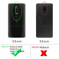 NOKIA 6.1 / 5.1 / 5.1 Plus /7.1 /8.1 Shockproof Carbon TPU Cover Anti Knock Case