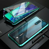 Magnetic Case Metal Bumper Double Tempered Glass OPPO Reno Z 10x Zoom 5G