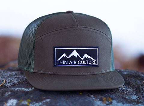 Hat- 7 Panel Trucker Hat - Cotton Twill & Mesh Snapback