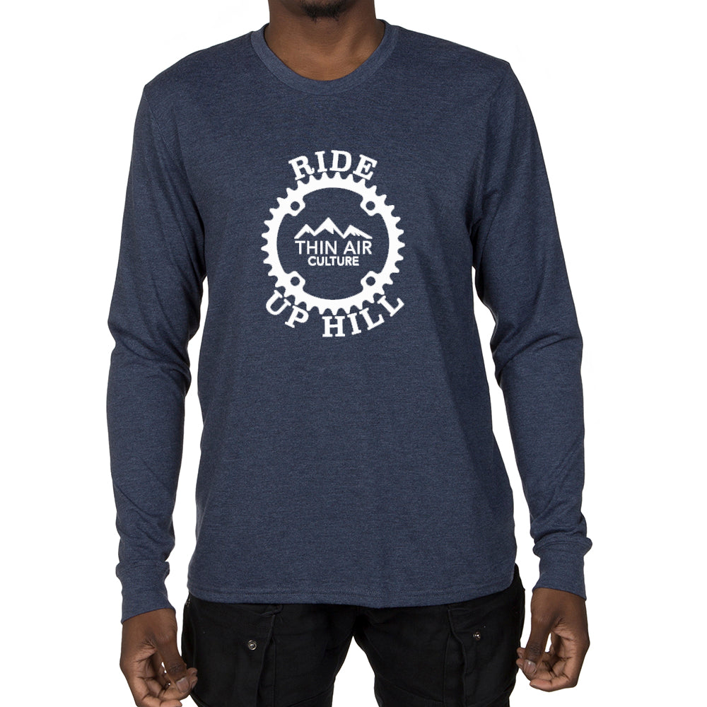 5fdd6cffa Men's Long Sleeve T-shirt - Ride Up Hill, Thin Air Culture design