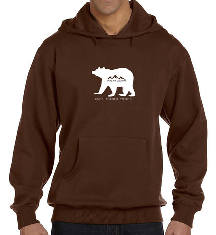 Eco-Hoodie - Bear-Love it Respect it Protect it design