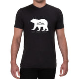 Bear-Love it Respect it Protect it design - Men's T-shirt