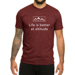 Life is Better at Altitude design - Men's T-shirt