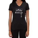 Climb On design - Ladies V-neck T-shirt