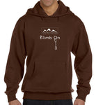 Eco-Hoodie - Climb On design