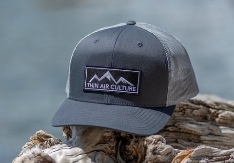 Hat - Pre-curved Trucker-  Cotton Twill & Mesh Snapback