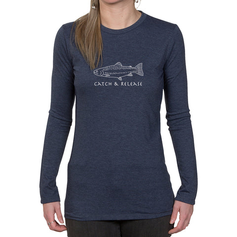 Ladies Long Sleeve T-shirt - Catch & Release Design