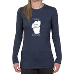 Ladies Long Sleeve T-shirt - Lake Tahoe graphic design