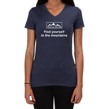 Find yourself in the mountains design - Ladies V-neck T-shirt
