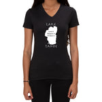 Lake Tahoe Graphic Love it design - Ladies V-neck Tee