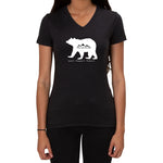 Bear-Love it Respect it Protect it design - Ladies V-neck T-shirt