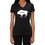 American Bison-Love it Respect it Protect it - Ladies V-neck T-shirt