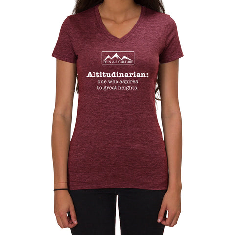 Altitudinarian design - Ladies V-neck T-shirt