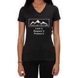 Thin Air Culture Love it Respect it Protect it design - Ladies V-neck T-shirt