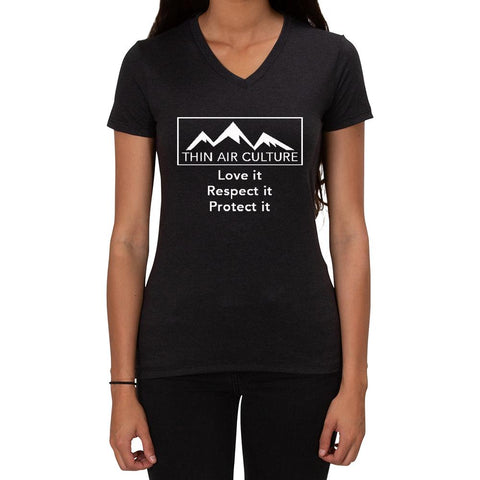Love it Respect it Protect it TAC design - Ladies V-neck T-shirt