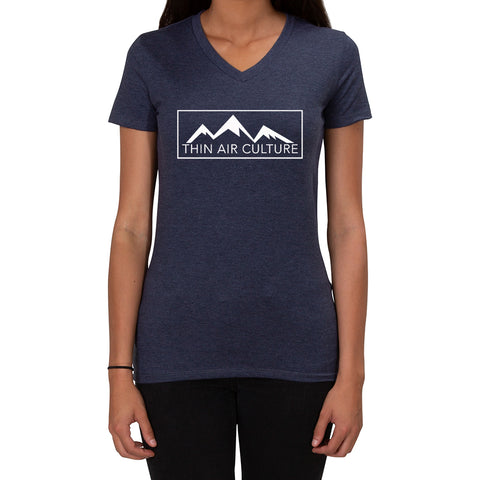 Thin Air Culture design - Ladies V-Neck T-shirt
