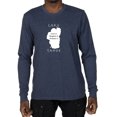Men's Long Sleeve T-shirt - Lake Tahoe graphic design