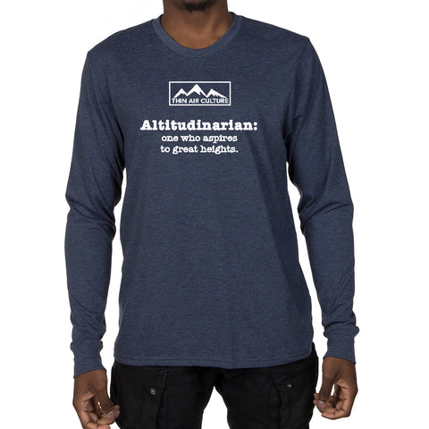 Men's Long Sleeve T-shirt - Altitudinarian design