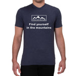 Find yourself in the mountains design - Men's T-shirt