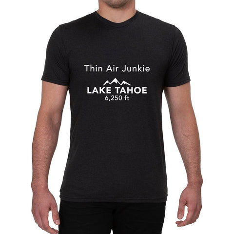 Thin Air Junkie Lake Tahoe 6,250ft design - Men's T-shirt