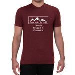 Lake Tahoe 6,250ft Love it Respect it Protect it design-Men's T-shirt