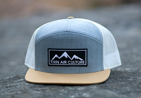 Hat- 7-panel cotton twill snapback