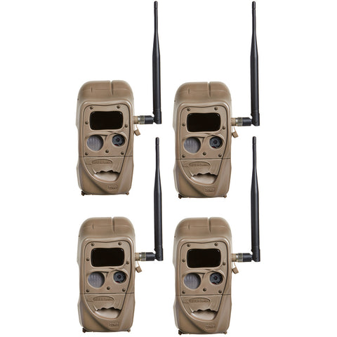 Cuddeback CuddeLink Black Flash Camera 4 pk.