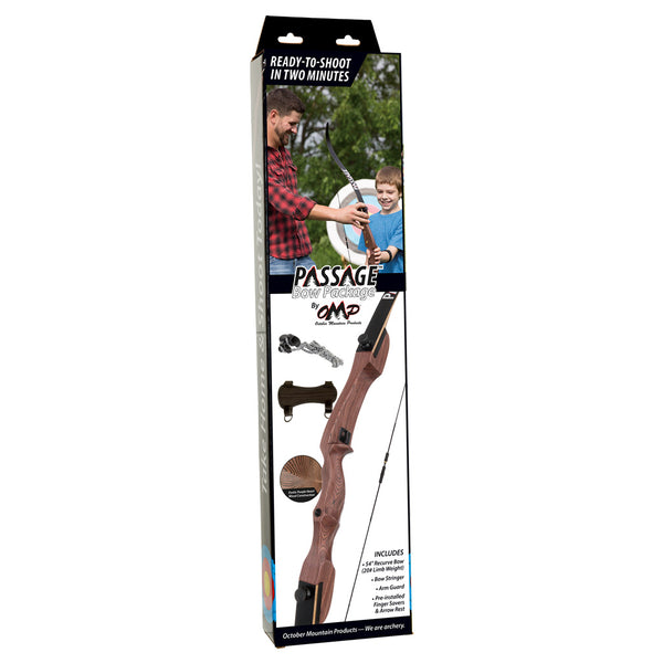 October Mountain Passage Recurve Bow Package 54 in. 20 lbs. RH No Arrows or Quiver | October Mountain