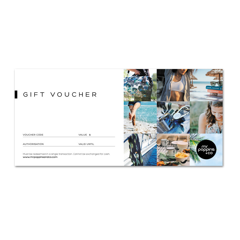 Mr Poppins+Co Printed Gift Voucher