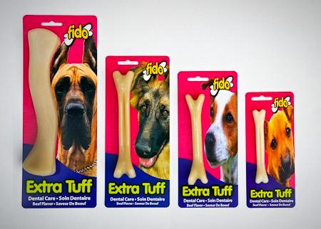 Fido Extra Tuff (Heavy Duty) Dental Bone (Beef) - 4 Sizes available