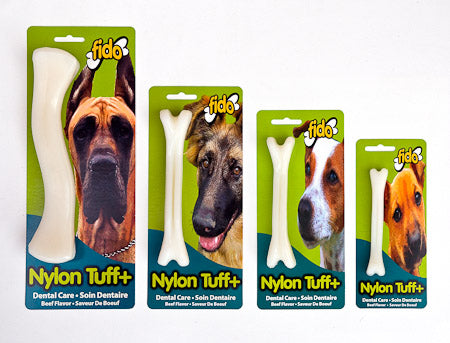 Fido Nylon Tuff+ (Extra Heavy Duty) Bone (Beef) - 4 sizes available