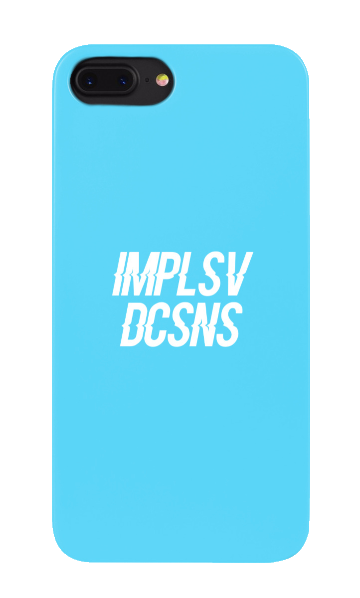 IMPLSV DCSNS Phone Case - Blue