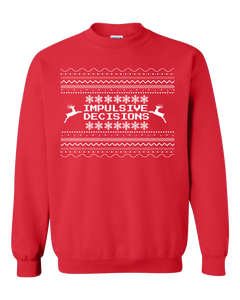 Impulsive Decisions Holiday Crewneck - Red