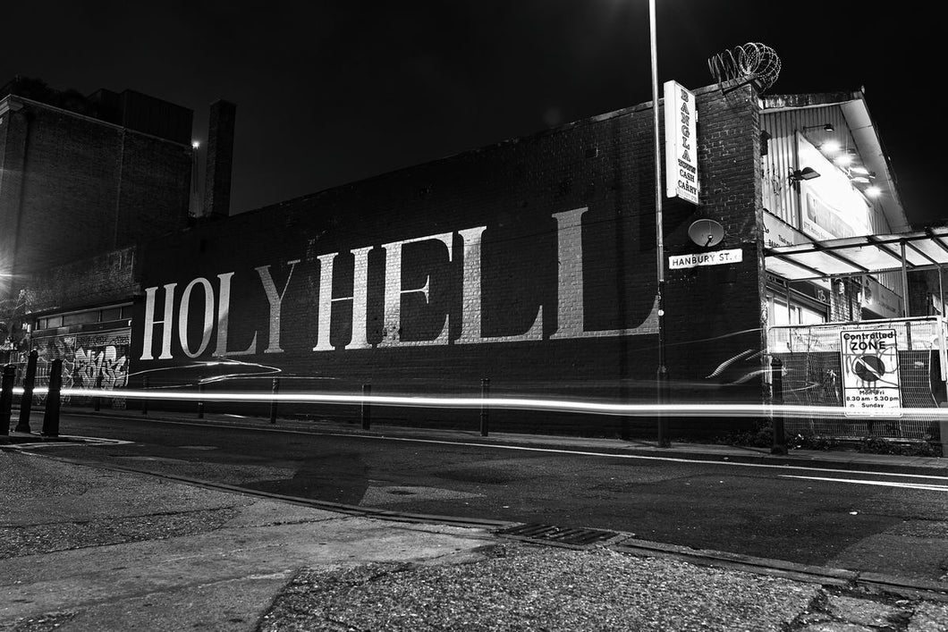 Architects wall painting of Holy Hell