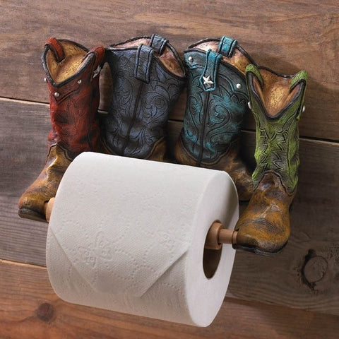 Art Cowboy Western Boots Tissue Holder - Sale 38% Off