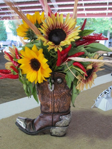 Western Cowboy Boot Vase - Sale 47% off
