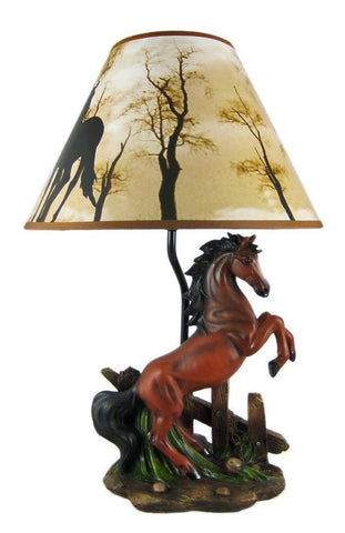 Brown Horse Lamp Light Decor Statue