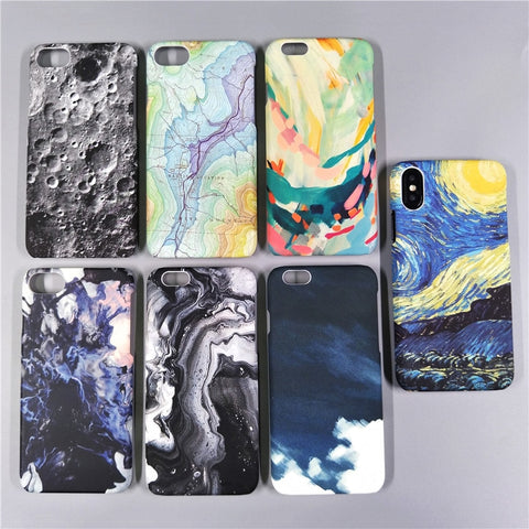 Moon Map Marble Case