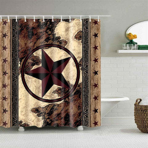 PARASTAR - 3D Horses Cowboy Shower Curtain - ParaStar - Sale 40% OFF
