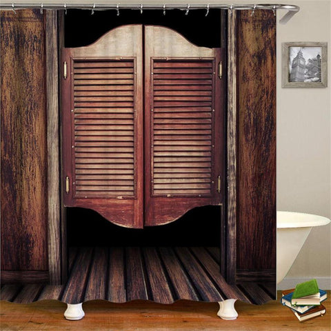 BARNDOOR - 3D Horses Cowboy Shower Curtain - BarnDoor