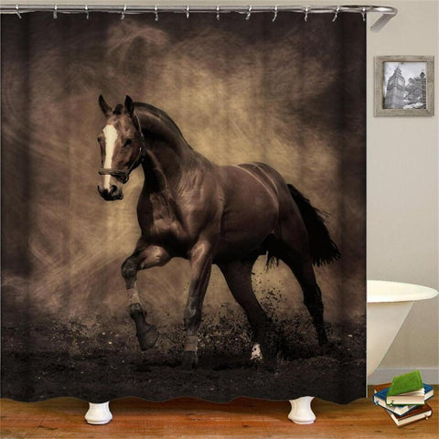 ONEHORSE - 3D Horses Cowboy Shower Curtain - OneHorse - Sale 40% OFF