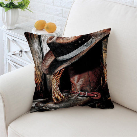 3D Western Cowboy Square 3D Pillowcase