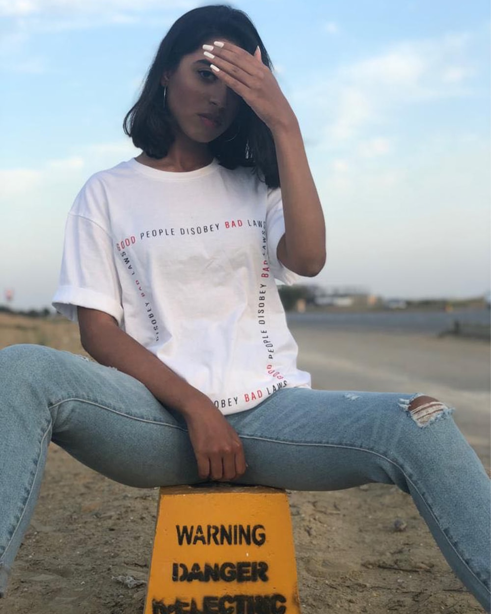 Good People Disobey Bad Laws White Tee