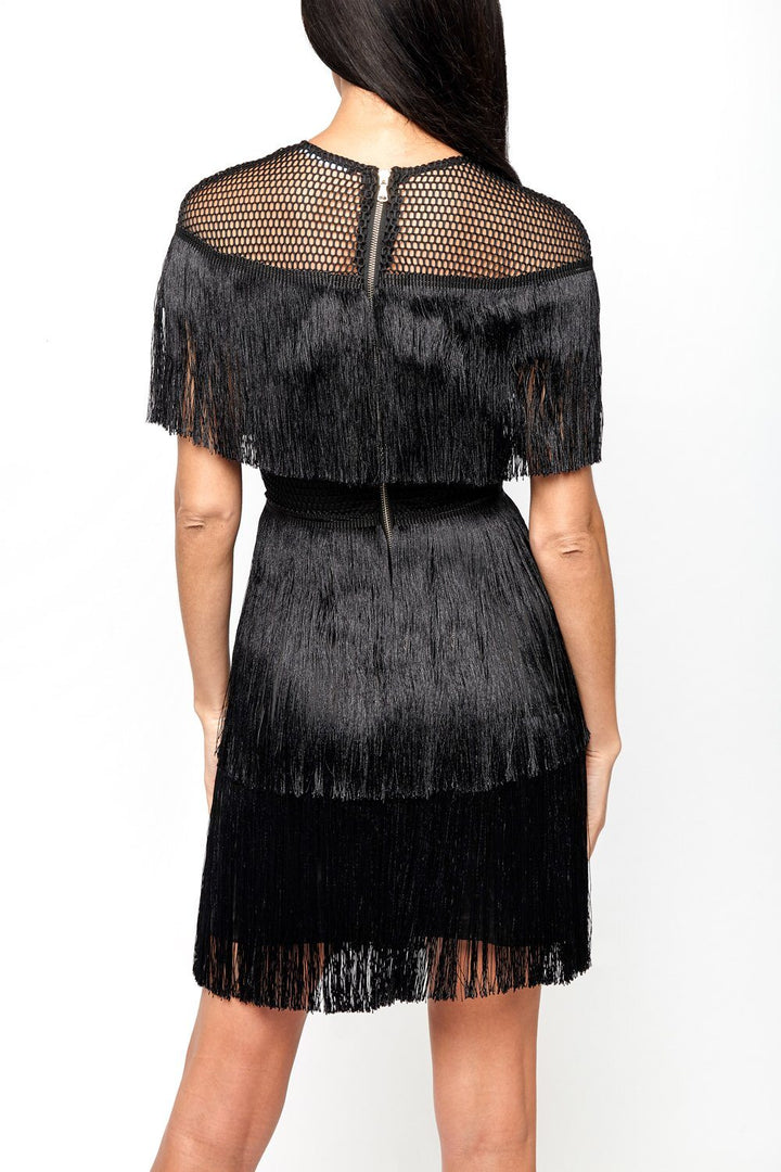 Frankie Tassle Dress in Black